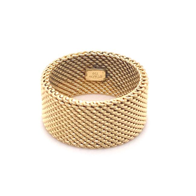 Tiffany & Co. Yellow Gold 18kt 10 Mm Somerset Mesh Wide Ring Women's Wedding Band Tiffany & Co. Yellow Gold 18kt 10 Mm Somerset Mesh Wide Ring Women's Wedding Band Image 4