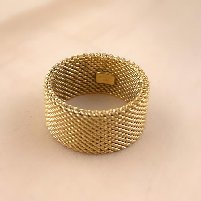 Tiffany & Co. Yellow Gold 18kt 10 Mm Somerset Mesh Wide Ring Women's Wedding Band Tiffany & Co. Yellow Gold 18kt 10 Mm Somerset Mesh Wide Ring Women's Wedding Band Image 5