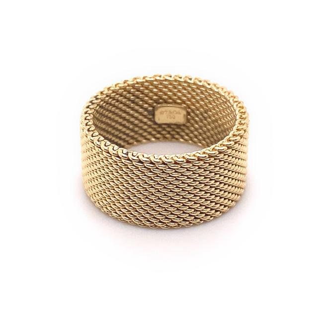 Tiffany & Co. Yellow Gold 18kt 10 Mm Somerset Mesh Wide Ring Women's Wedding Band Tiffany & Co. Yellow Gold 18kt 10 Mm Somerset Mesh Wide Ring Women's Wedding Band Image 6
