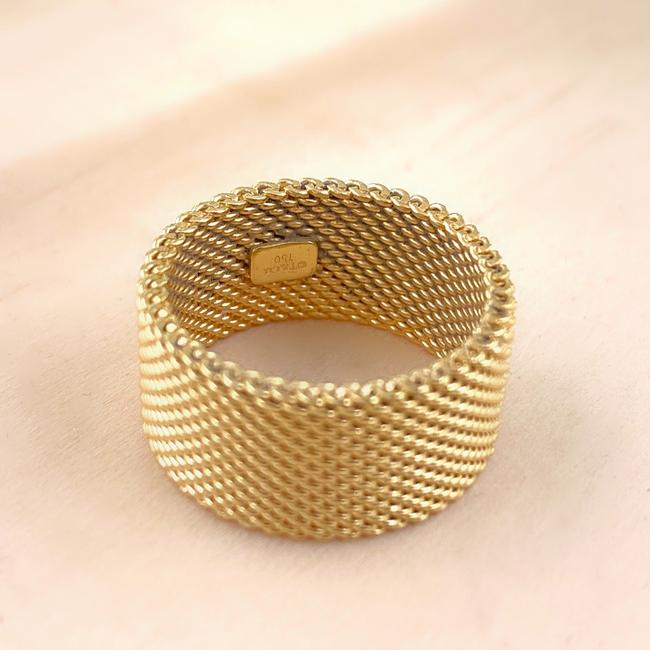 Tiffany & Co. Yellow Gold 18kt 10 Mm Somerset Mesh Wide Ring Women's Wedding Band Tiffany & Co. Yellow Gold 18kt 10 Mm Somerset Mesh Wide Ring Women's Wedding Band Image 10