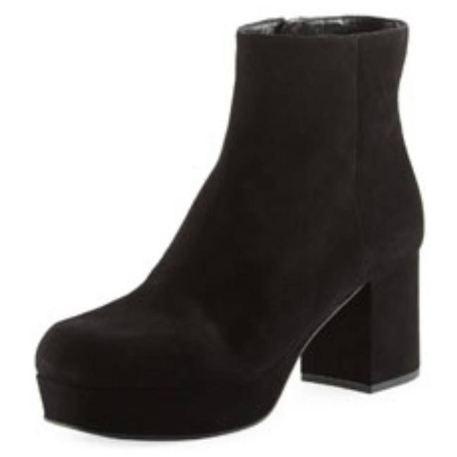 Item - Black Suede Platform Block-heel In Boots/Booties Size EU 35.5 (Approx. US 5.5) Regular (M, B)