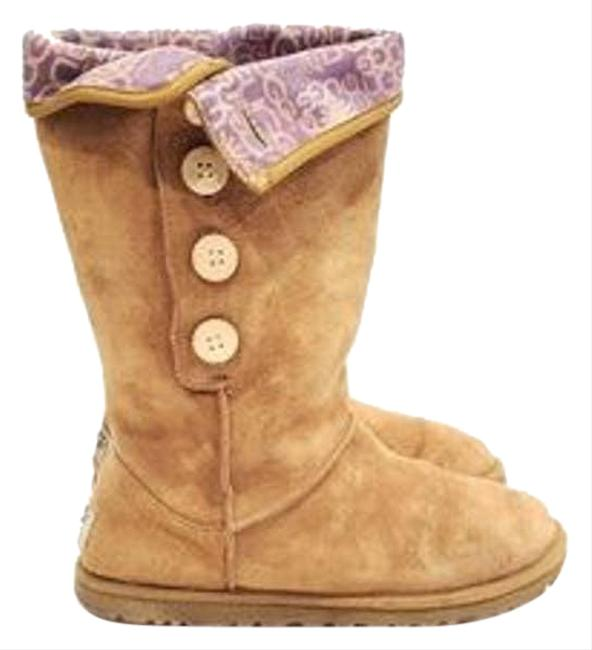 Item - Tan Chestnut Fold Over Button Boots/Booties Size US 8 Regular (M, B)