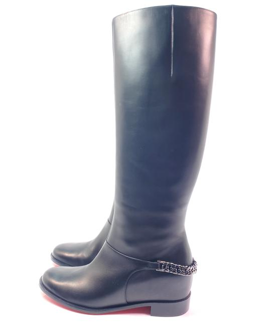 Item - Black Cate Flat Calf Leather Chain Riding Boots/Booties Size EU 39 (Approx. US 9) Regular (M, B)