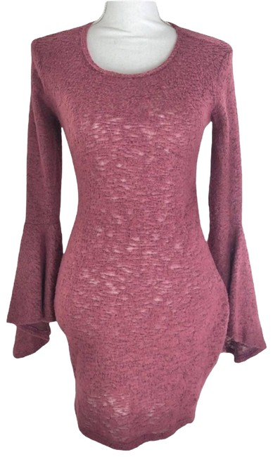 Item - Red Go Couture Bell Sleeve Sweater Tunic Size 4 (S)