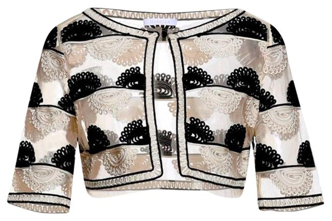 Item - Cream Sartorial Cropped Tule In Ivory Jacket Size 4 (S)