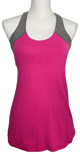 Item - Pink Athletica Womens Gray Scoop Neck Racerbac Tank Top/Cami Size 6 (S)