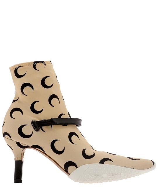Item - Beige Crescent Moon Printed Ankle Boots/Booties Size EU 37 (Approx. US 7) Regular (M, B)