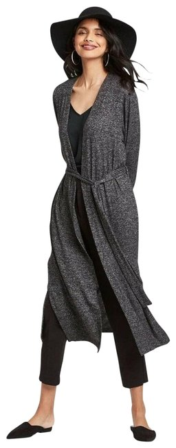 Item - Gray Waist Belted Duster Cardigan Activewear Size 16 (XL, Plus 0x)