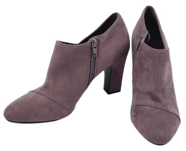 Item - Grey Sixth Avenue Faux Leather Ankle Boots/Booties Size US 8.5 Regular (M, B)