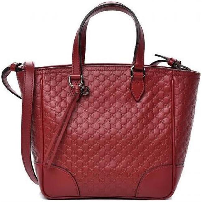 Item - Crossbody Tote Bag Bree New Micro ssima Gg 350 Red Leather Satchel