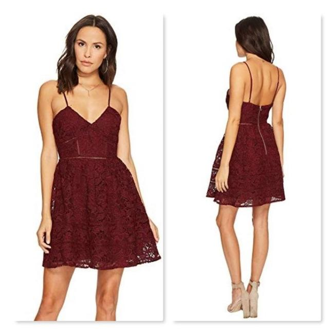 Item - Red Sutton Fit and Flare Lace Cocktail Dress Size 4 (S)