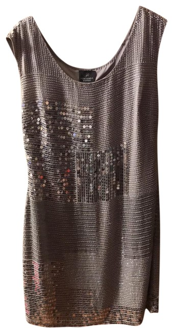 Item - Silver Gray Rn#59782 Mid-length Cocktail Dress Size 10 (M)