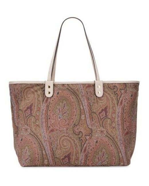 Item - Reversible Paisley Shopper Pink Lambskin Leather Tote