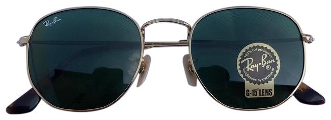 Item - Green 3548 Hexagon Sunglasses