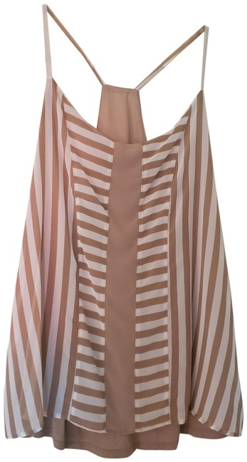 Item - Sleeveless Taupe White Top