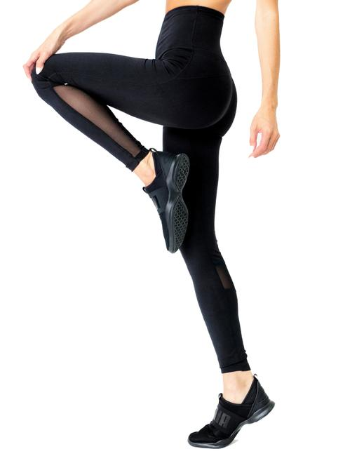 Item - Black Energique Athletic with Reflective Strips and Mesh Panels Activewear Bottoms Size 2 (XS, 26)