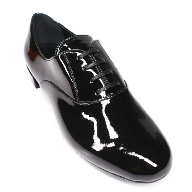 Item - Black Women's Oxford Loafers Patent Leather Round Toe - 35. Flats Size EU 35.5 (Approx. US 5.5) Regular (M, B)