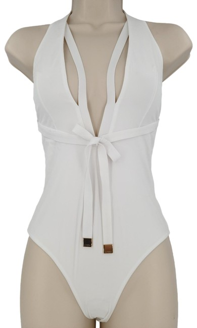 Item - White Sexy and Luxury Siut One-piece Bathing Suit Size 8 (M)