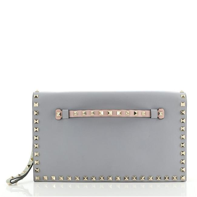 Item - Rockstud Flap Multicolor Leather Clutch