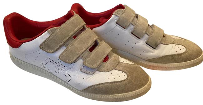 Item - White Red Beige Logo Perforated Sneakers Size EU 39 (Approx. US 9) Regular (M, B)