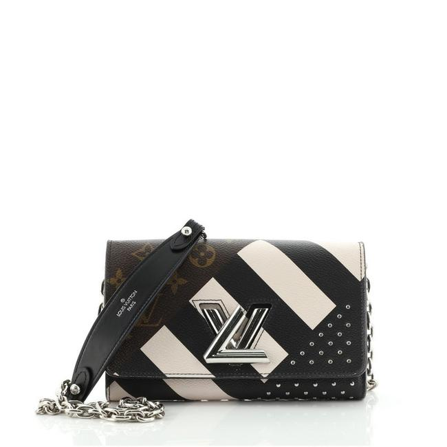 Item - Twist Chain Wallet Limited Edition Monogram Black Brown Canvas (Coated) Leather Cross Body Bag