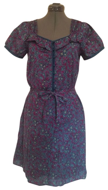 Marc by Marc Jacobs short dress Purple And Teal Floral Cotton on Tradesy