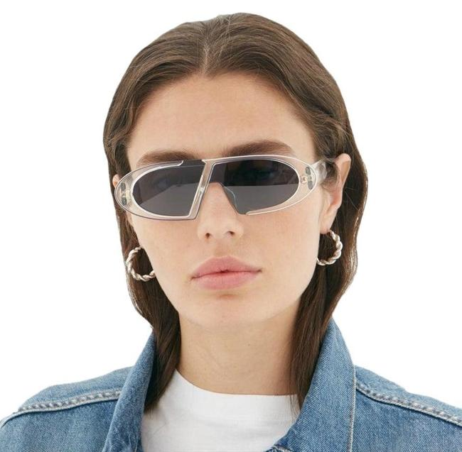 Item - Crystal | Blue oblique Oblique Oval Round Sunglasses