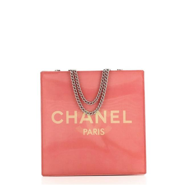 Item - Vintage Holographic Chain Small Red Vinyl Tote