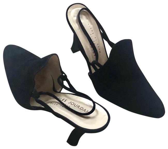 Item - Black Suede Slingbacks Formal Shoes Size US 7.5 Regular (M, B)