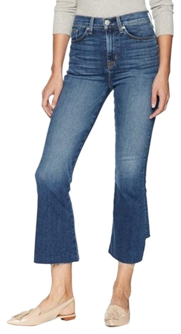Item - Holly High Waisted Flared Cropped Skinny Jeans Size 4 (S, 27)