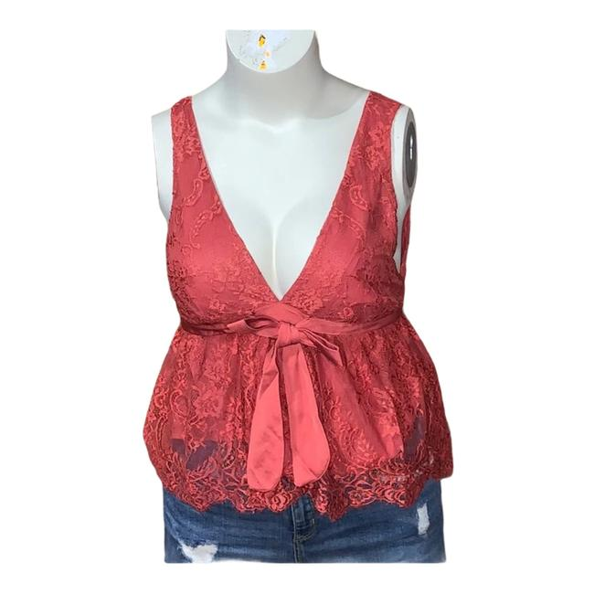 Item - Pink Coral Chante Lace Frenchie Kiss Tank Top/Cami Size 12 (L)