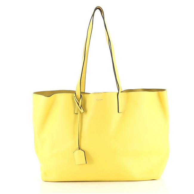 Item - Shopper Large Yellow Leather Tote