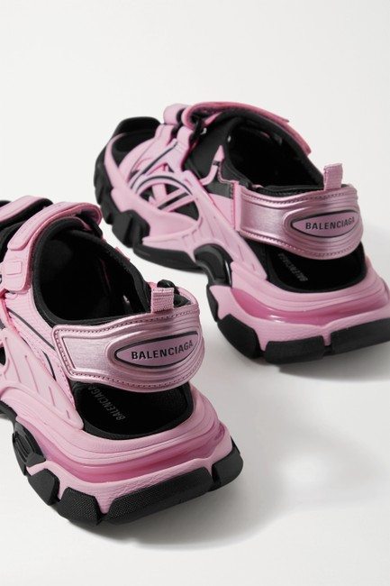 Balenciaga Pink Track Logo-detailed Leather and Rubber Sandals Size EU 37 (Approx. US 7) Regular (M, B) Balenciaga Pink Track Logo-detailed Leather and Rubber Sandals Size EU 37 (Approx. US 7) Regular (M, B) Image 3
