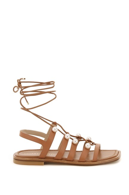 Item - Multicolored Goldie Lace-up with Pearls Sandals Size EU 40 (Approx. US 10) Regular (M, B)