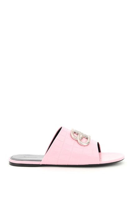 Item - Pink Oval Bb Leather Mules/Slides Size EU 39 (Approx. US 9) Regular (M, B)
