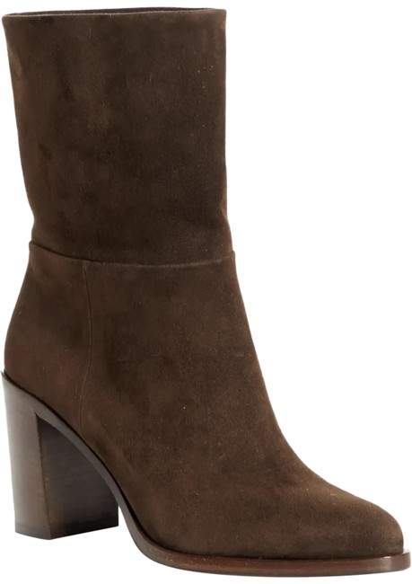 Item - Dark Brown 90mm Suede Mid-calf Block Heel Boots/Booties Size EU 38.5 (Approx. US 8.5) Regular (M, B)