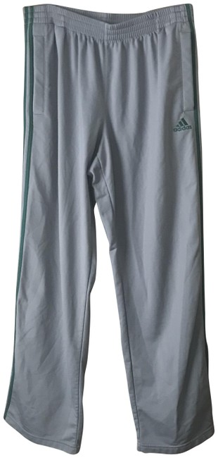 Item - Grey W/Green Warm-up Activewear Bottoms Size 14 (L, 34)