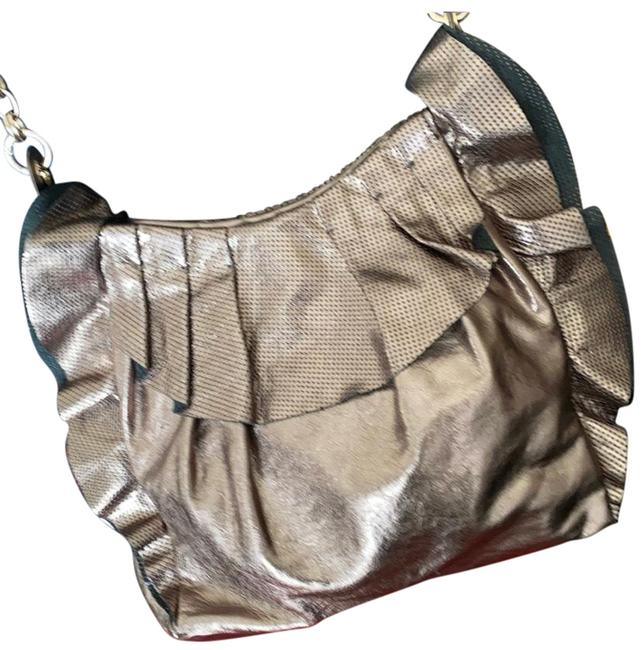 Item - Gold Leather Shoulder Bag