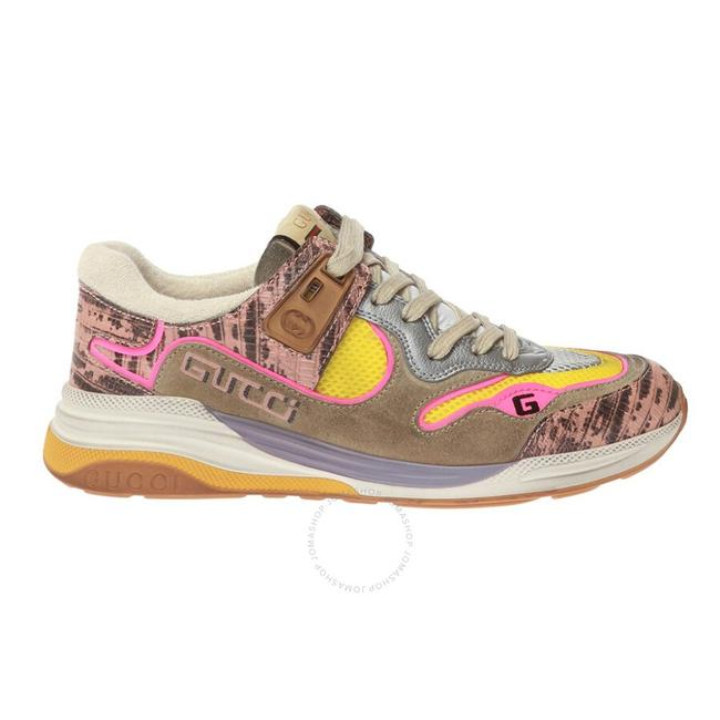 Item - Pink and Silver Metallic Ultrapace Sneakers Size EU 36 (Approx. US 6) Regular (M, B)