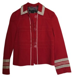 Marc Jacobs Marc Buttons Stripes Red Jacket