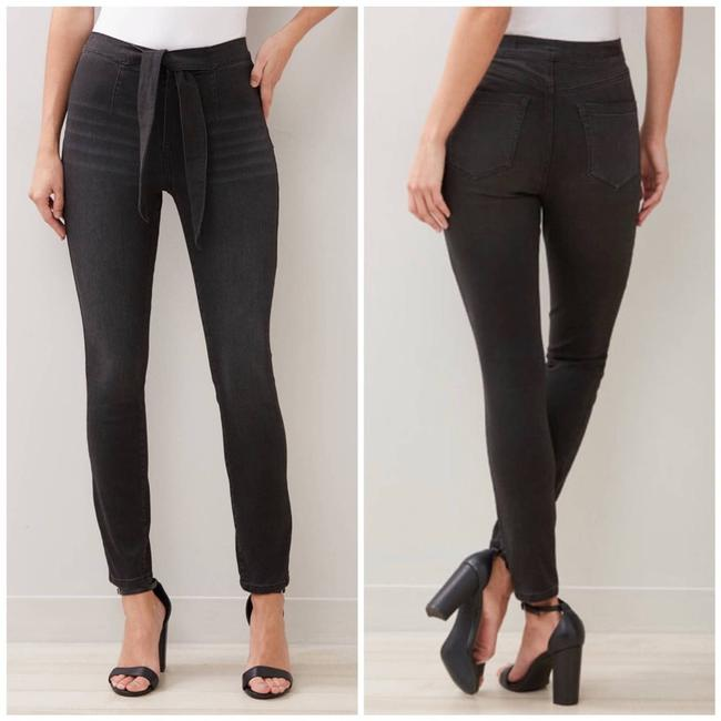 Item - Black High-rise Tie-front Skinny Jeans Size 25 (2, XS)