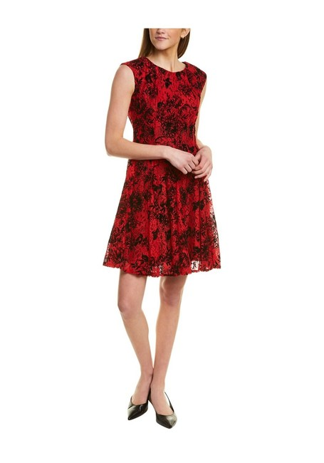 Item - Red and Black Cocktail Dress Size 8 (M)