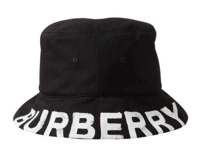 Item - Black Bucket New Reversible Logo Checked Printed Cotton-twill Large Hat