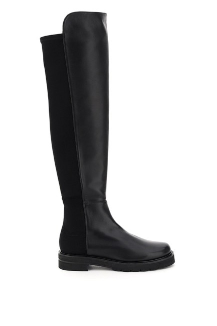 Item - Black 5050 Lift Leather and Stretch Boots/Booties Size EU 38 (Approx. US 8) Regular (M, B)