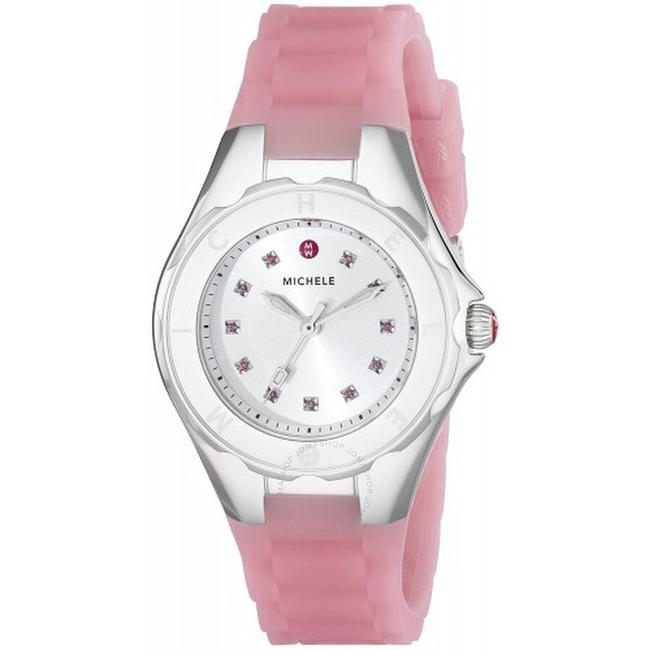 Item - Pink/ Silver Jelly 'tahitian Bean' Petite Topaz Stones Mww12p000008 Watch