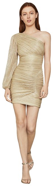 Item - Gold Ruched Mini Short Cocktail Dress Size 2 (XS)