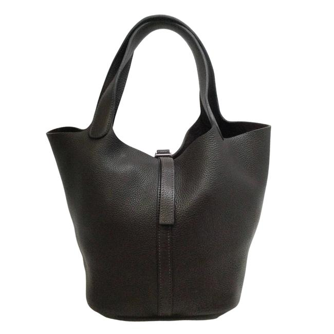 Item - Picotin 2008 Mm Brown Leather Satchel