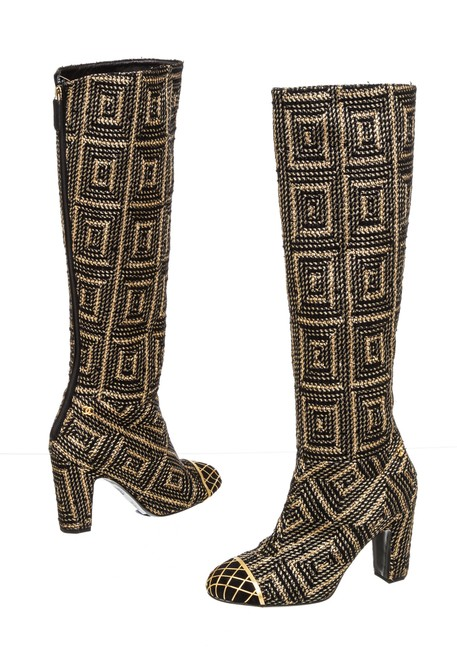 Item - Gold & Black Byzantine Collection 503081 Boots/Booties Size EU 37 (Approx. US 7) Regular (M, B)