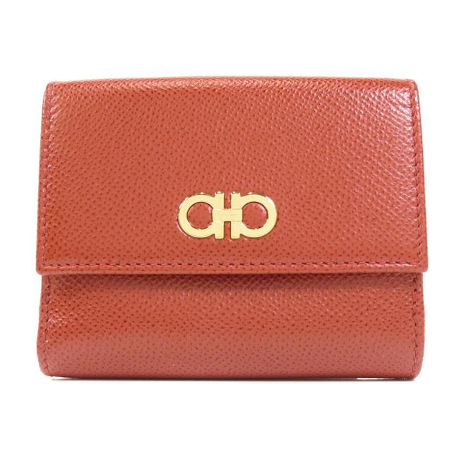Item - Clear / Red Color Gancini Bi-fold Leather Ladies Wallet
