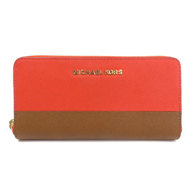 Item - Red Brown / Red Color Logo Bi-fold Pvc Ladies Wallet